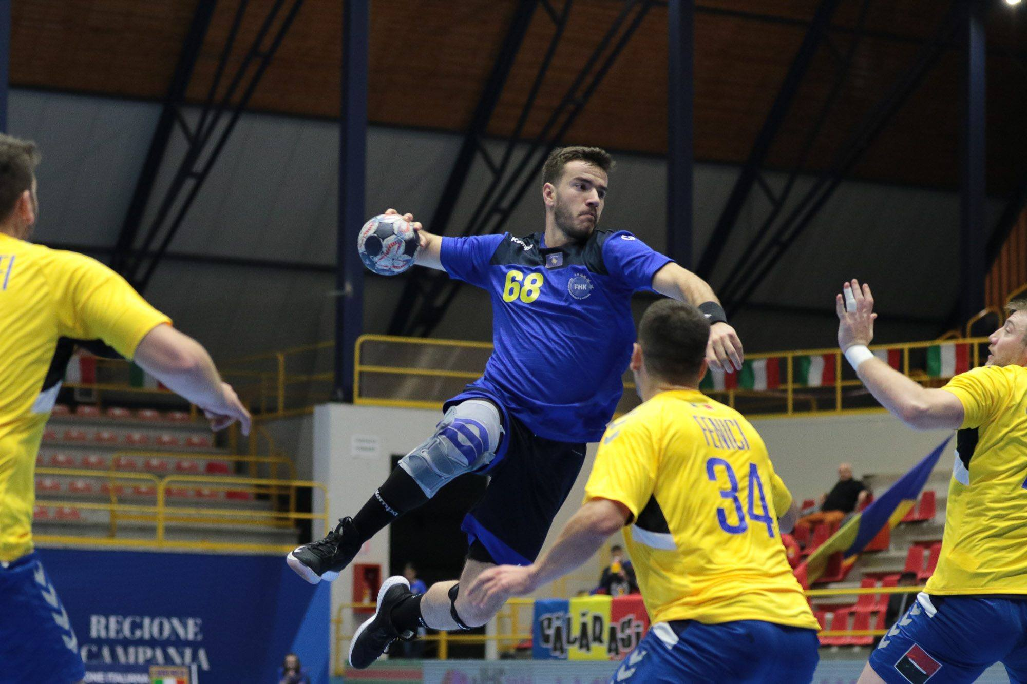 Egzon Gjuka Handball Kosova sulmon kunder Rumanise