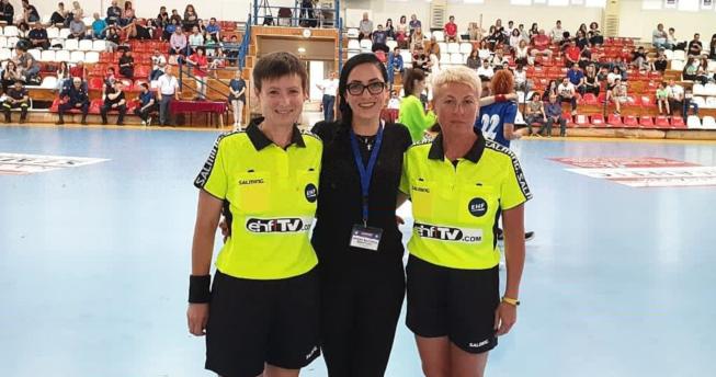 Në foto shihet delegatja e Federatës Evropiane të Hendbollit (EHF), Shqipe Bajçinca Brestovci.
